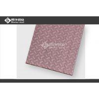 专业不锈钢蚀刻花纹厂家 304红古铜拉丝不锈钢米粒纹
