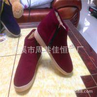冬季 保暖的 手工棉鞋 牛筋底)保暖防滑,耐磨,价格优惠,
