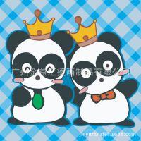 广州烫画厂家直销 2015年流行情侣装烫画 服装卡通亲子装呆萌图案