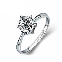 正品S925纯银 送礼物八心八箭六爪钻石戒指时尚韩版首饰品