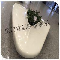 上海商场玻璃钢花缸休息凳休息凳道具陈列制作 上海玻璃钢花缸休息凳