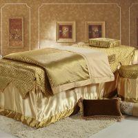 A809全棉美容院床罩四件套 刺绣提花四件套 手机袋设计