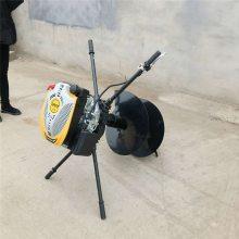 启航牌水泥电线杆钻孔机 高效牵引式地钻 农用拖拉机挖坑机