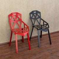 海德利厂家定制 时尚镂空金属铁艺餐椅 美式创意餐椅 批发