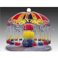 旋转飞椅多少钱一套,天一游乐设备旋转飞椅喇叭花造型魅力四射