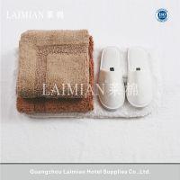 莱棉酒店地巾900g 公寓客房平织毛巾毯长绒棉毛巾垫定制批发