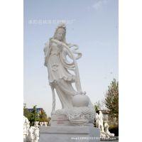 石雕 汉白玉观音 大理石观音佛像 大型雕刻佛像 寺院用品曲阳雕刻