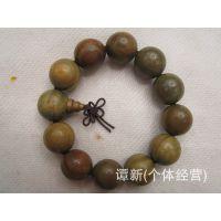 厂家直销供应天然优质绿檀手串 美洲绿檀木佛珠手链 品质超群