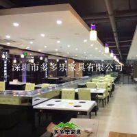 全国订制火锅店桌椅 现代中式 火锅桌椅 多多乐家具