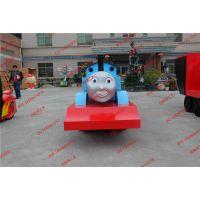 玻璃钢小火车雕塑 游乐园火车卡通造型摆设 动画片托马斯雕塑批发
