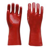 顺兴直销 pvc手套 劳保用品 工作手套 红色光面耐油防酸碱35cm