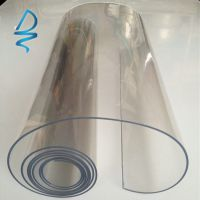 0.1mm透明环保PVC薄膜磨砂PVC彩色PVC超透PVC雨衣