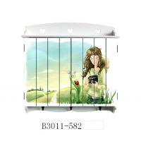 混批 装饰美观 美式田园风格木制电表箱遮档箱3011-582