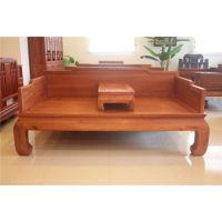 罗汉床定做花梨木红木家具、全实木家具、东阳木雕直销
