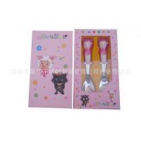 供应可爱餐具套装 儿童礼品  创意礼盒喜洋洋勺叉二件套