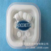 外贸耳机厂家 入耳耳机 滴胶公仔耳机 促销耳机