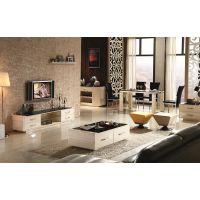 现代客厅客厅套装钢化玻璃时尚简约长方形烤漆茶桌子电视柜+茶几