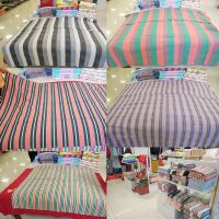 厂家直销纯棉老粗布床单夏季新款时尚条纹单人全棉床单被单床裙