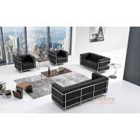 众晟家具皮制LC2设计师商务现代接待洽谈沙发椅价格