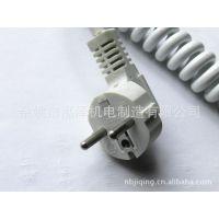 厂家直销欧规三芯多国电源插头、欧标插头、欧洲插头线、黑色白色