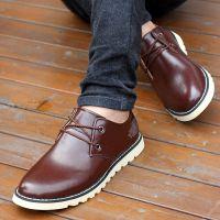 骆驼王真皮手工制作皮鞋 休闲时尚牛皮单鞋男鞋 男士真皮男鞋百搭