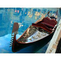 供应庆荣木业贡多拉欧式木船手划船装饰木船船景观船