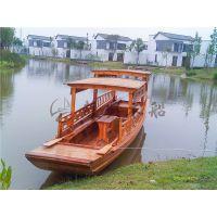 7米电动高低蓬船 水乡摇橹船 景区游览木船 公园观光游船 苏兴制造
