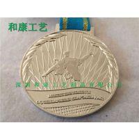 厚街工业旅游半程马拉松奖牌制作,慕思杯金属奖牌订做,古铜色奖牌订做厂