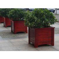 实木花箱-马路隔离花槽-广场园林花钵厂家