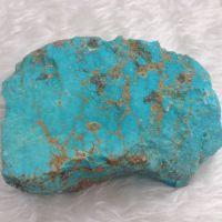 美国纯天然原矿绿松石原石 进口大金曼绿松裸石原料