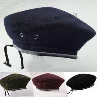 贝雷帽 针织帽子 纯羊毛毡帽 供应外贸出口来样来图定做 支持混批