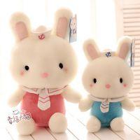 蓝白玩偶可爱卡通海军兔宝宝毛绒玩具情侣小兔公仔布娃娃生日礼品