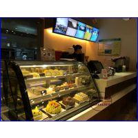 甜品店保鲜柜定做价格 西餐厅烘焙食品冷藏柜 保定圆弧形蛋糕柜佳伯