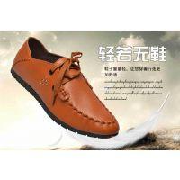 2016新款韩版男系带皮鞋圆头纯色平跟 男鞋时尚休闲男鞋厂家直销