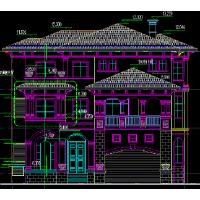 [厦门]3层简欧风格豪华独栋别墅建筑施工图(含结构水暖电图纸 效果图)