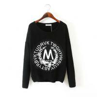 2014秋冬新款欧美风-胶印M字母羊毛衫淘宝免费代理一件代发货