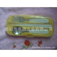 批发供应塑料柄餐具 便携塑料餐具塑料餐具三件套