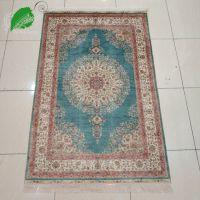 亿丝客厅卧室手工真丝波斯地毯高档别墅公寓专用地毯91x152cm