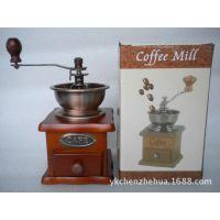 厂家供应 家用原木手摇磨豆机 咖啡豆研磨机 陶瓷芯磨豆机