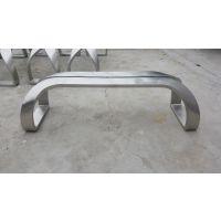 公园休闲长凳不锈钢凳子番禺大石不锈钢雕塑公司