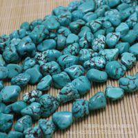 绿松石原石 散珠 高蓝瓷 绿松石 随意型半成品原石 批发