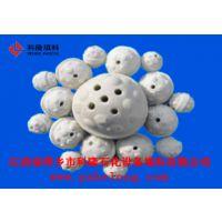 供应菠萝开孔瓷球菠萝球陶瓷化工填料开孔蓄热球耐磨瓷球