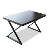 古德 时尚简约现代实木铁艺餐桌 长方形餐厅桌子高档可定做规格