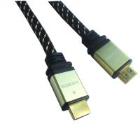 HDMI线金属镀金 1.4版 高清线HDMI cable 3D电视连接线尼龙编织网线