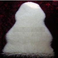 厂家直销白色平剪人造毛皮现货 优质柔软人造毛短毛绒 白色人造毛