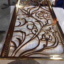 泉州别墅金属图案立体雕花护栏 楼梯铝板雕刻护栏订做生产