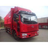 一汽解放J6L6.8米货车板车载货箱车高栏国五180马力13716325930
