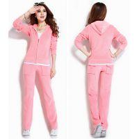 雅安新款天鹅绒运动套装女韩版两件套休闲运动套装低价批发