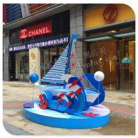 厦门宜创展示供应各类 乘风破浪系列 海浪帆船 展示道具