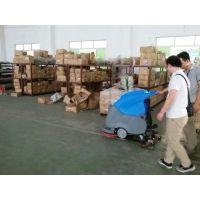南宁自动洗地机,南宁纸箱厂车间清洁使用的环壮多功能自动洗地机供应